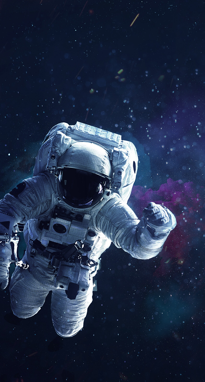 An Astronaut Floating Around In Space Astronaut Art Space Art Galaxy Wallpaper