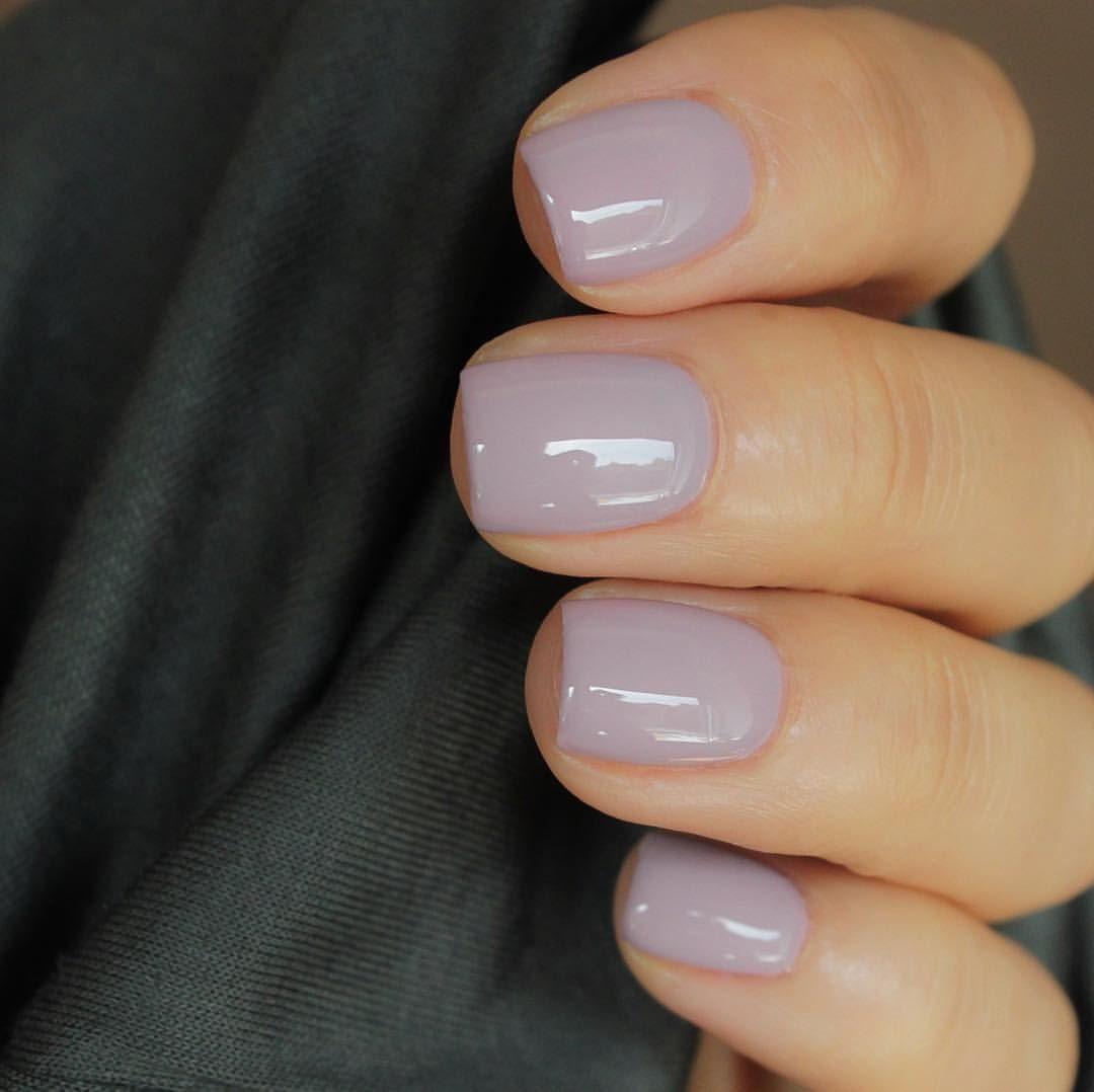 I love this nail polish color. This pale grayish, lavender nail ...
