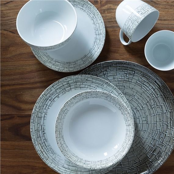 Inspired by architectural stonework our all natural Milano Porcelain Collection is crafted using reclaimed water and recycled scrap materials. & Milano Porcelain Dinner Plate (491573129) Stoneware Dinner plates ...