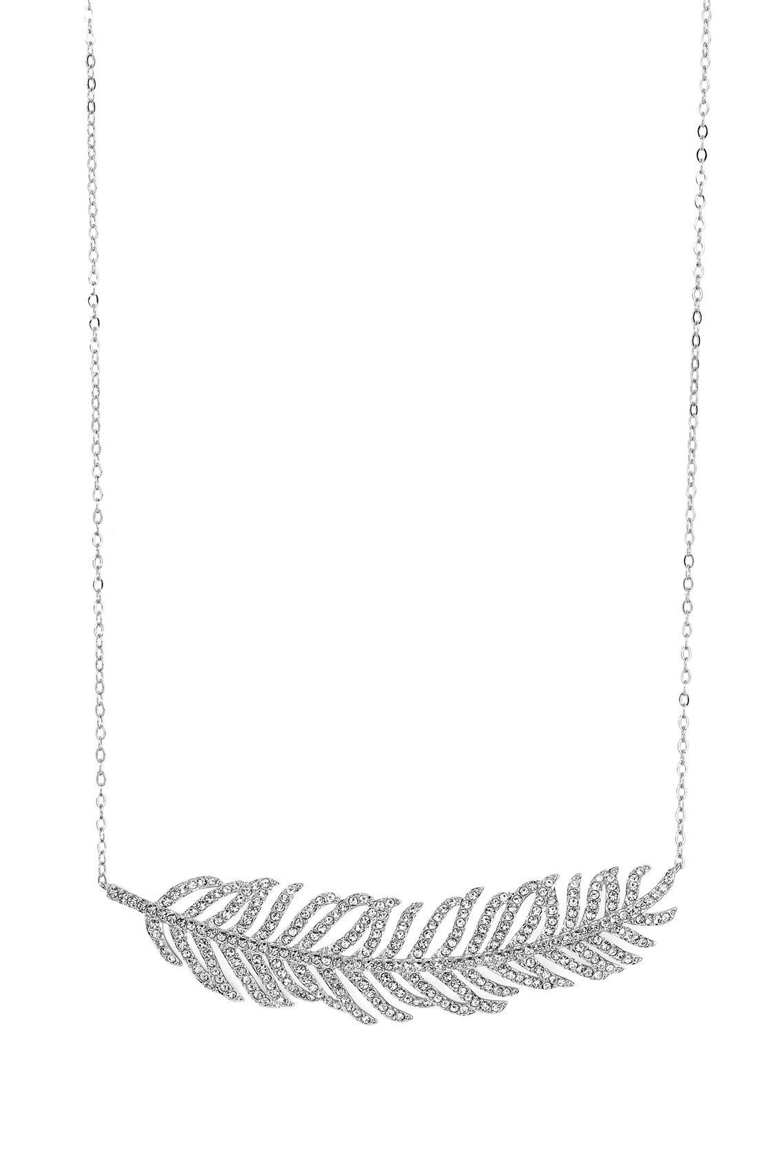 Nadri Feather Pendant Necklace available at #Nordstrom