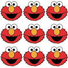 elmo cut out template