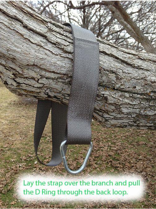 Black Tree Swing Hanging Kit Two Straps Backyard Trees