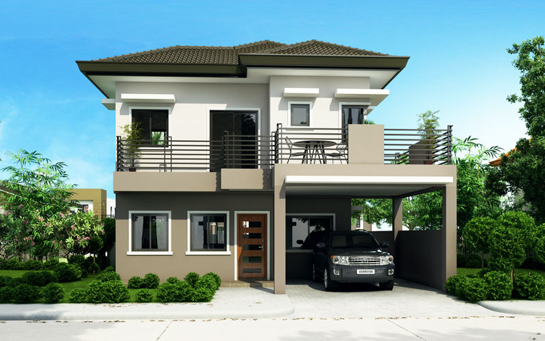 Two Story 4 Bedroom House Plan Which Can Be Constructed In 186 0 Sq M Myhomemyzone C Best Modern House Design 2 Storey House Design Four Bedroom House Plans