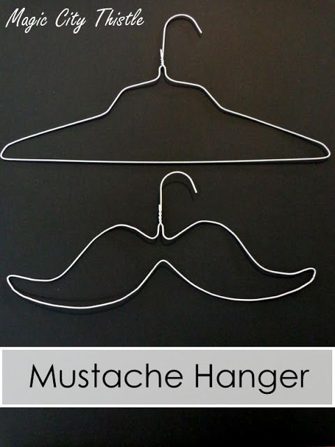 A creative idea to further fuel the current mustache mania....Mustache Hanger...love it