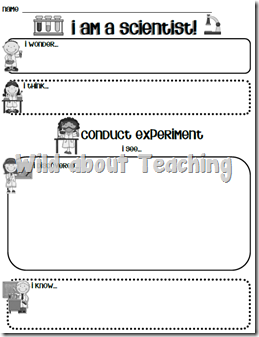 science experiment templates