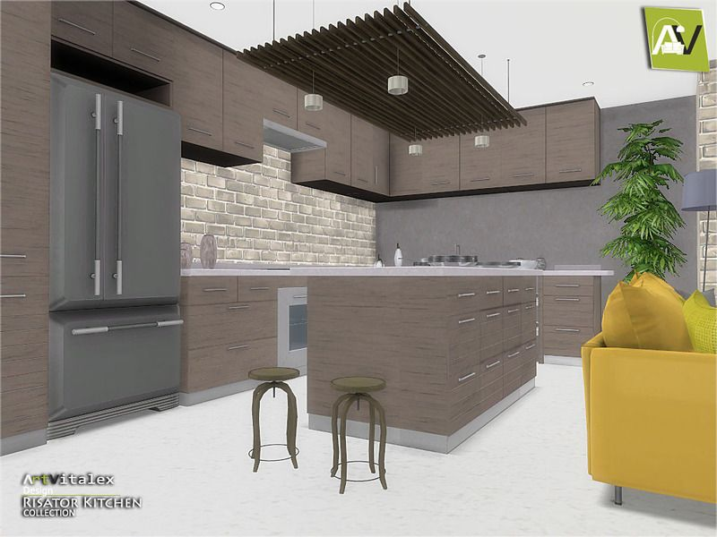 Risator Kitchen Found In Tsr Category Sims 4 Kitchen Sets The