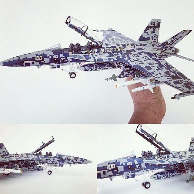 Nice F18f Hornet 100 Years Of Naval Aviation Modeler