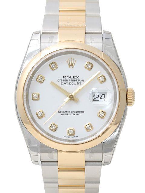 Rolex Datejust 36 116203 Stahl Gold Weiss Diamant Rolex Uhren