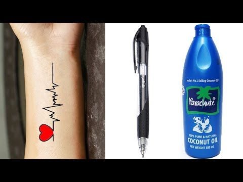 Photo of How to Make Permanent Tattoo at Home with Pen & Coconut Oil | DIY Homemade Tattoo