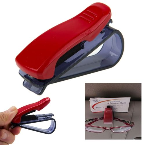 [USD0.39] [EUR0.36] [GBP0.29] Car Multifunctional Sunglass Clip / Paper Business Card Clip(Dark Red)