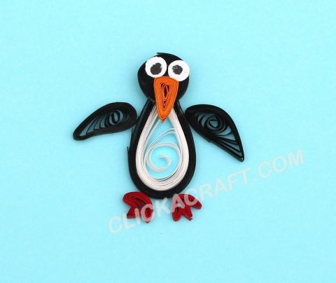 Quilling penguin click on image to see step by step for Easy quilling designs step by step