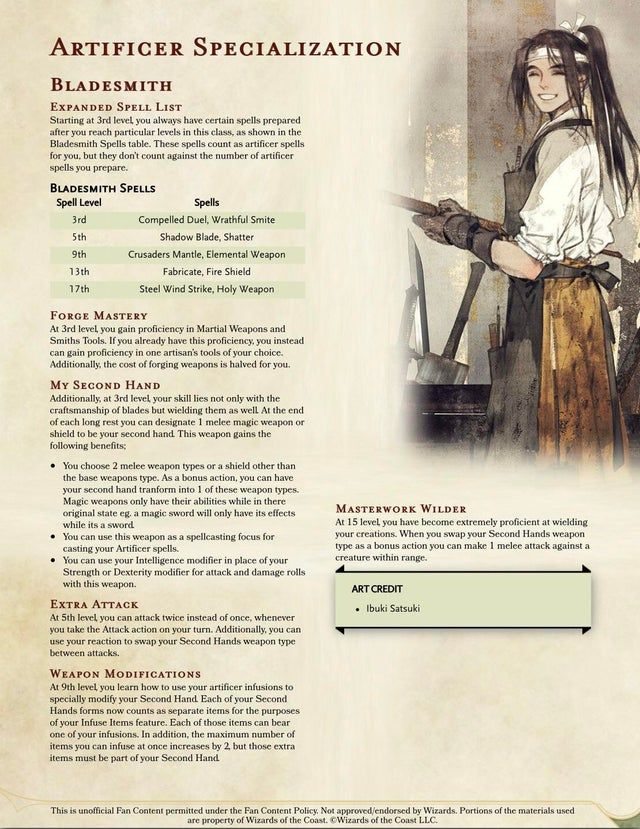 Pin On D D Aside from tweaking the multiclassing rules (now you round your artificer levels up for determining spell slots) and reworking the artificer's spell list, mainly by incorporating spells from the xanathar's guide to everything. pinterest