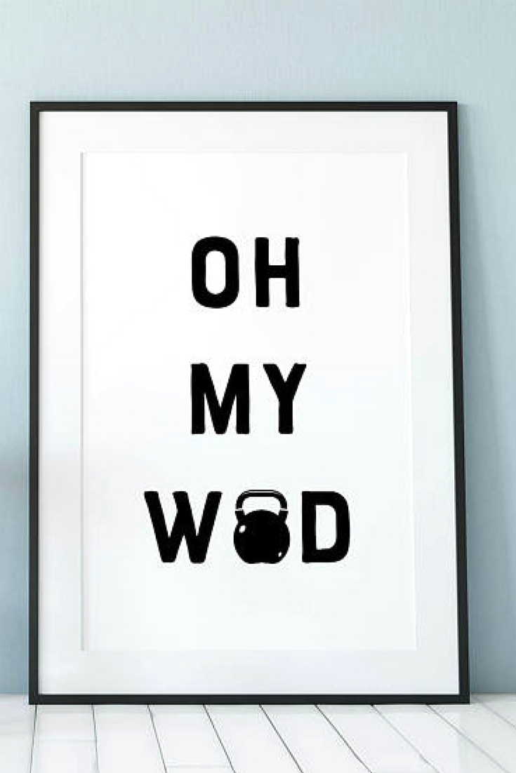 Love this wall art would be perfect for my gym or just around the