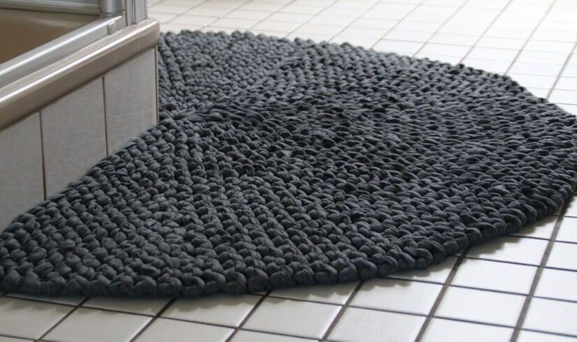 Strickteppich Fur S Kleine Bad Strickteppich Teppich Badezimmerteppich
