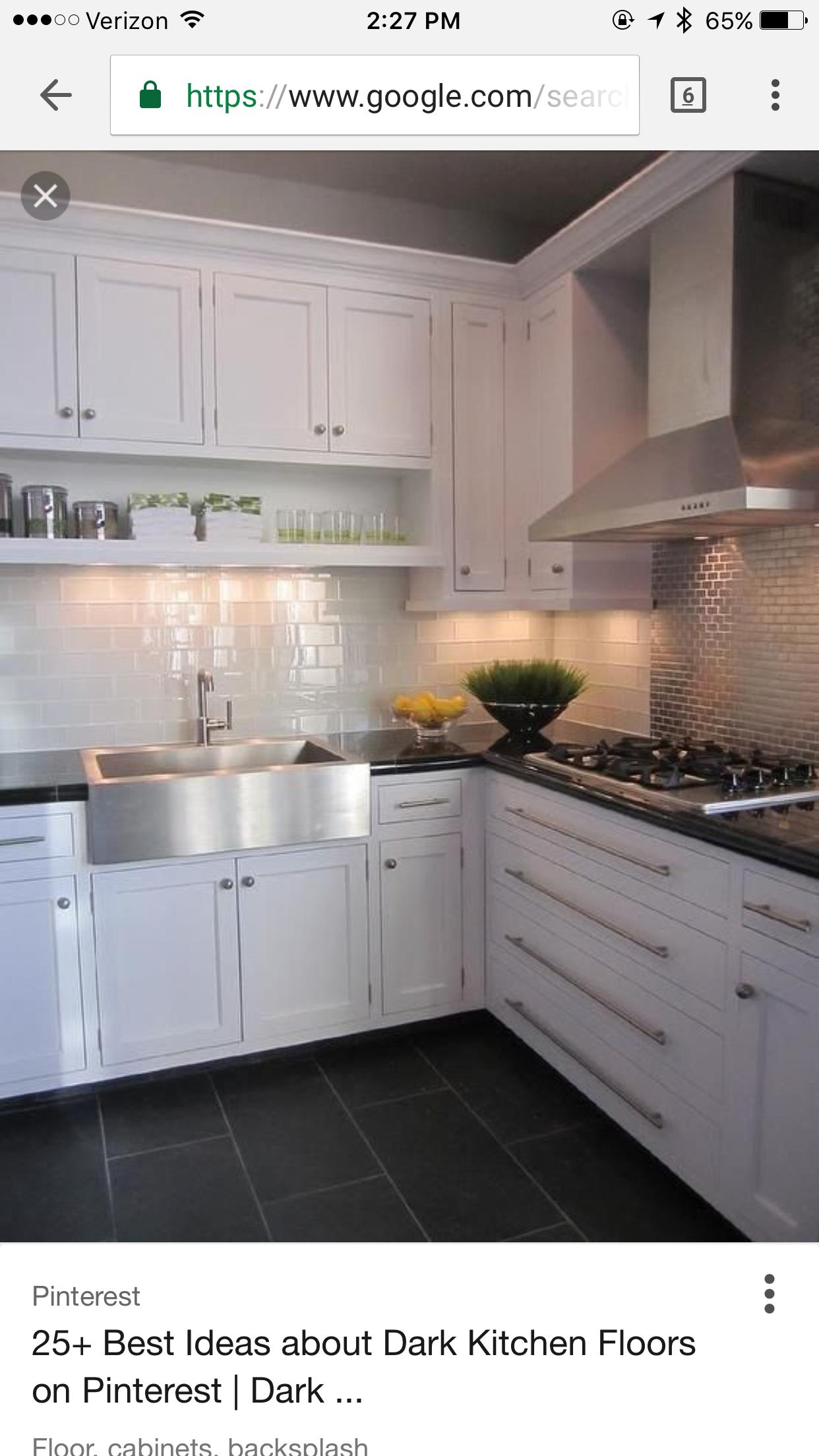AuBergewohnlich Dunkle Küchenböden, Schieferfliesen, Graue Fliesenböden,  Graue Fliesen, Fliesenboden, Dunkle Arbeitsplatten