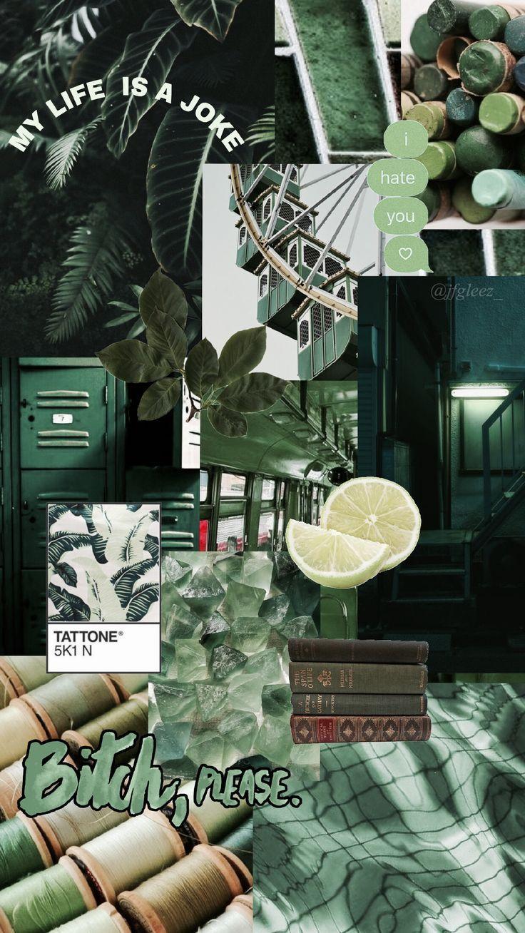 Green aesthetic wallpaper 💚 jfgleez_ Aesthetic pastel
