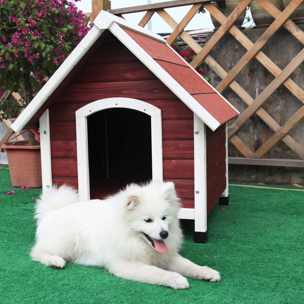 Petsfit Wood Dog House Dog House Outdoor Hurry Check Out This