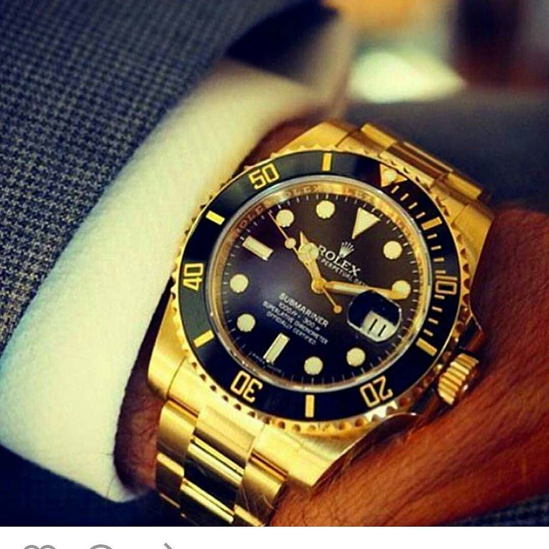 Rolex submariner Full gold - High quality Swiss machinery ...