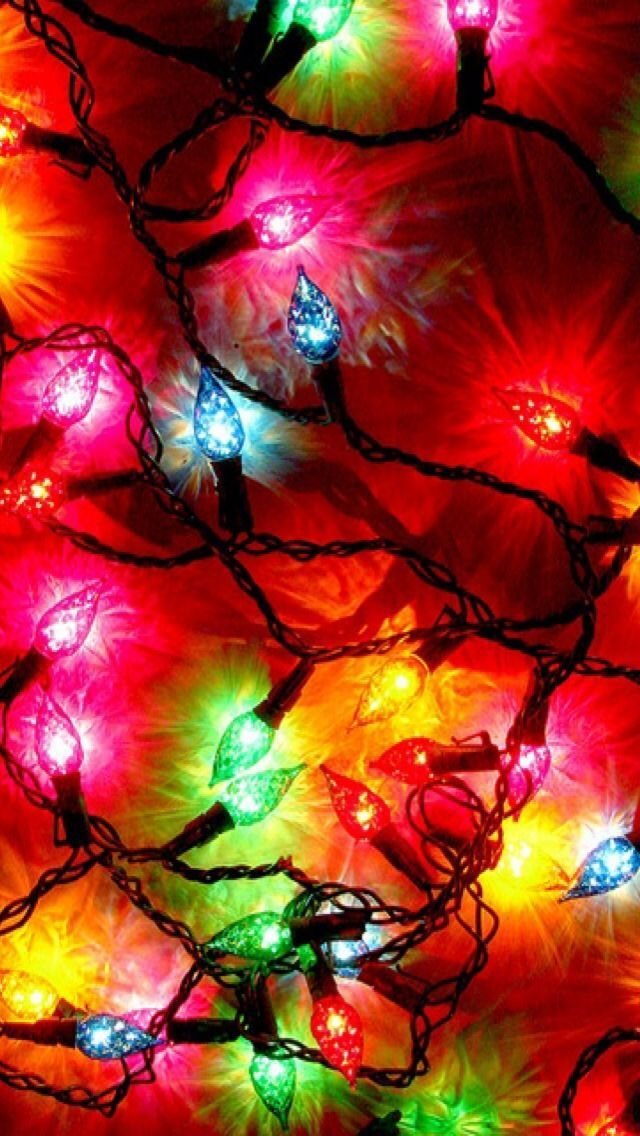 String of christmas tree lights wallpaper art wallpapers string of christmas tree lights wallpaper sciox Images