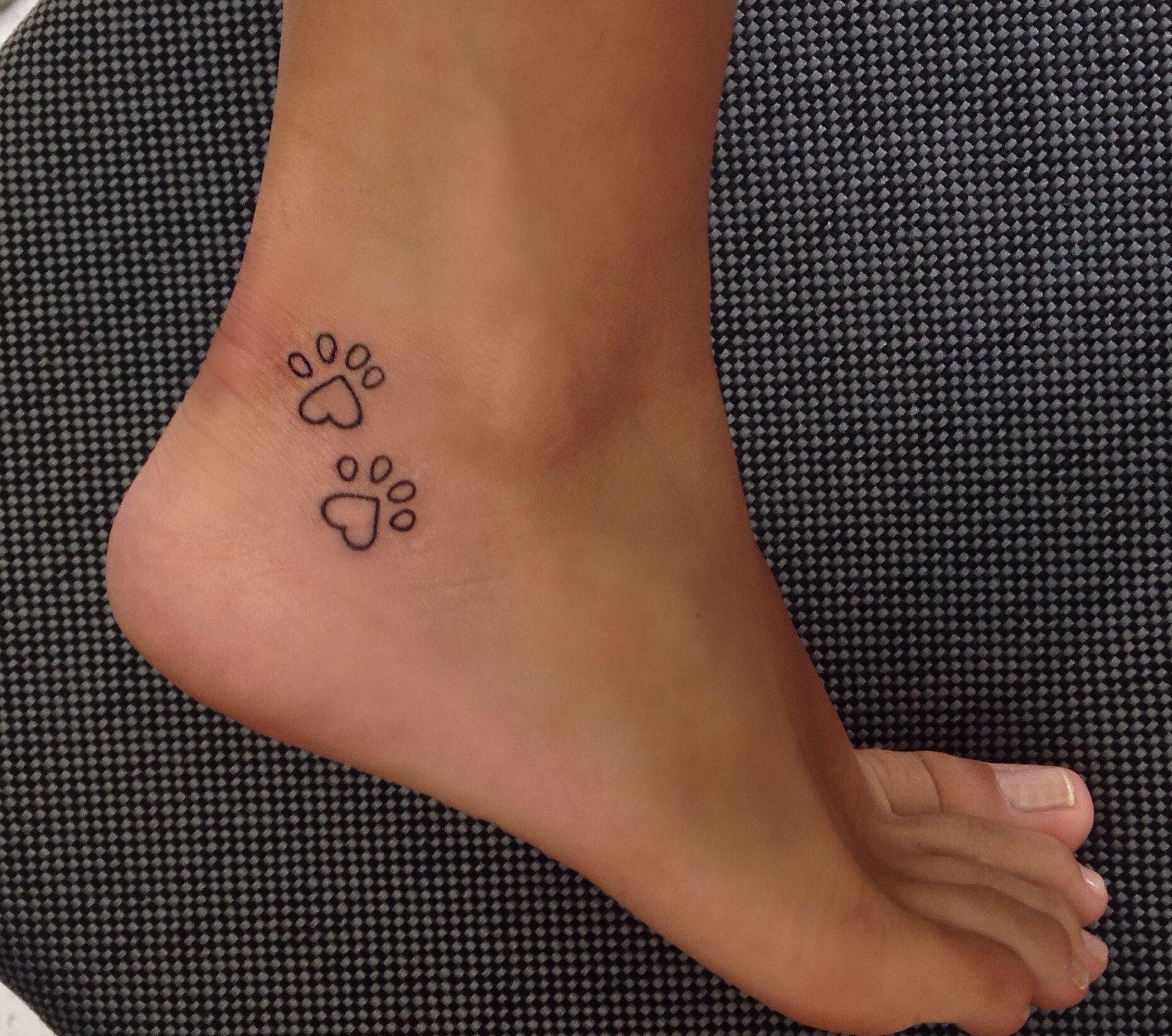 b0c84473917f5 Paw print heart. Paw print heart Animal Tattoos, Dog Paw Tattoos, Tattoo For  ...