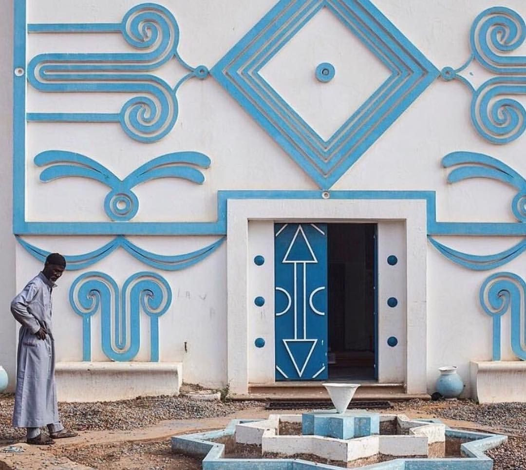 The stunning facade of the national museum in Niger