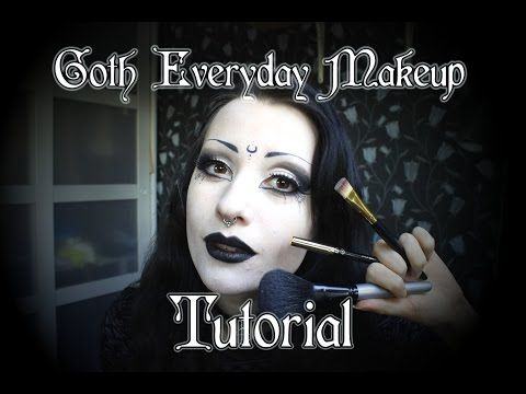 everyday goth makeup tutorial  youtube  makeup  goth