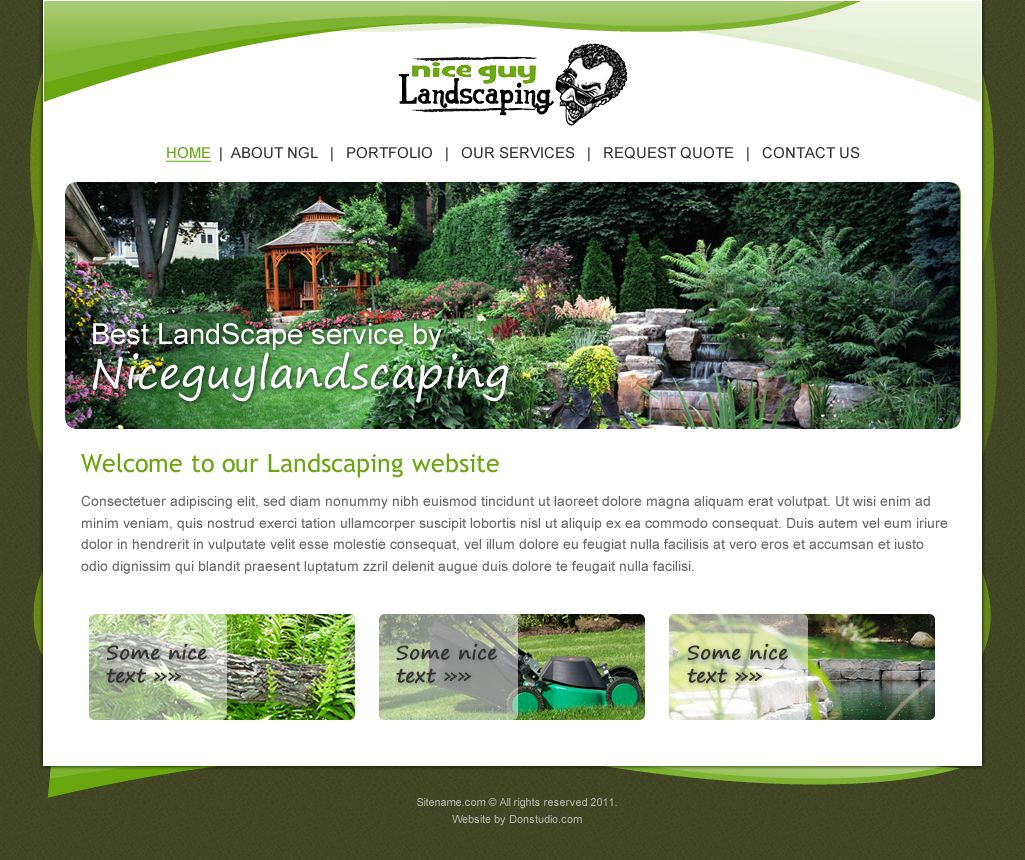 Free landscape design website templates bathroom design for Landscaping companies