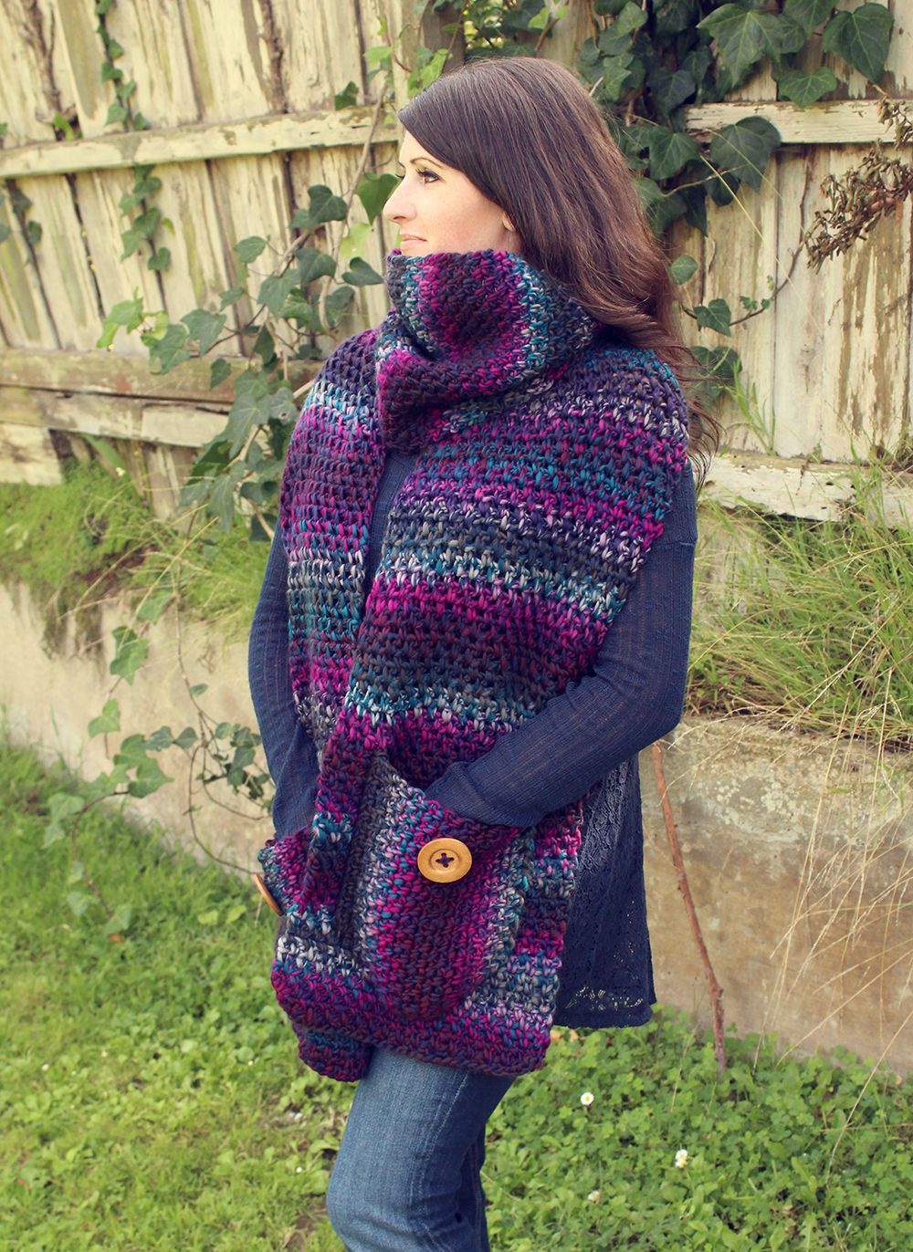 Free Crochet Pattern: Amethyst Scarf. Loops & Threads Facets yarn ...