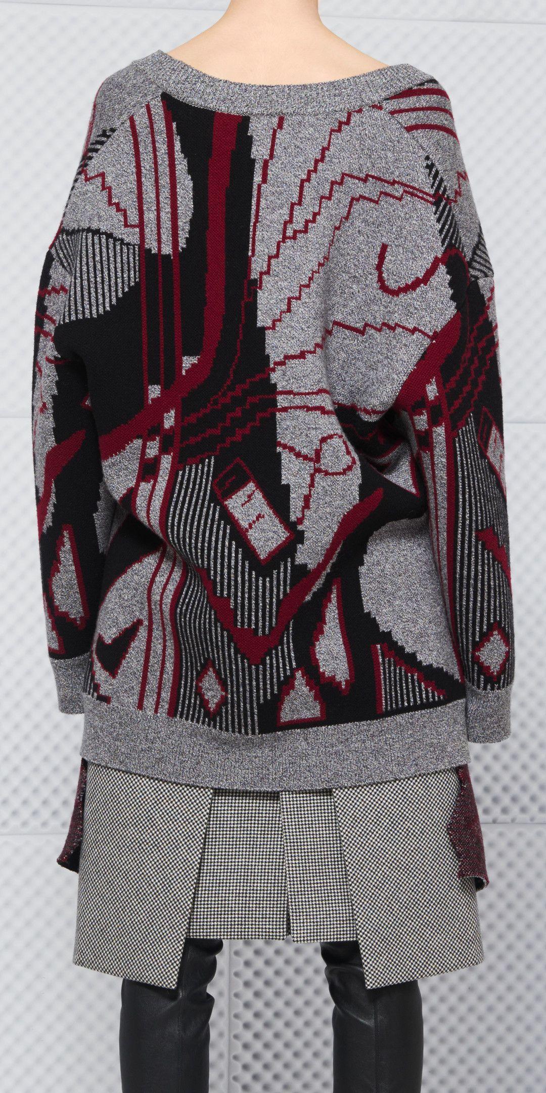 드레이프 V 넥 스웨터