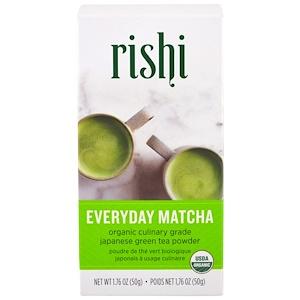 Rishi Tea 오가닉 에브리데이 말차 분말 1 76 Oz 50 G 2020 말차 쥬스 다도