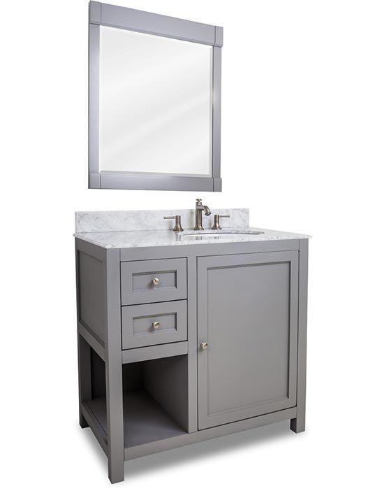Hardware Resources Astoria Modern Single 36 Inch Transitional Bathroom Vanity Grey Transitional Bathroom Vanities Modern Bathroom Vanity Bathroom Vanity