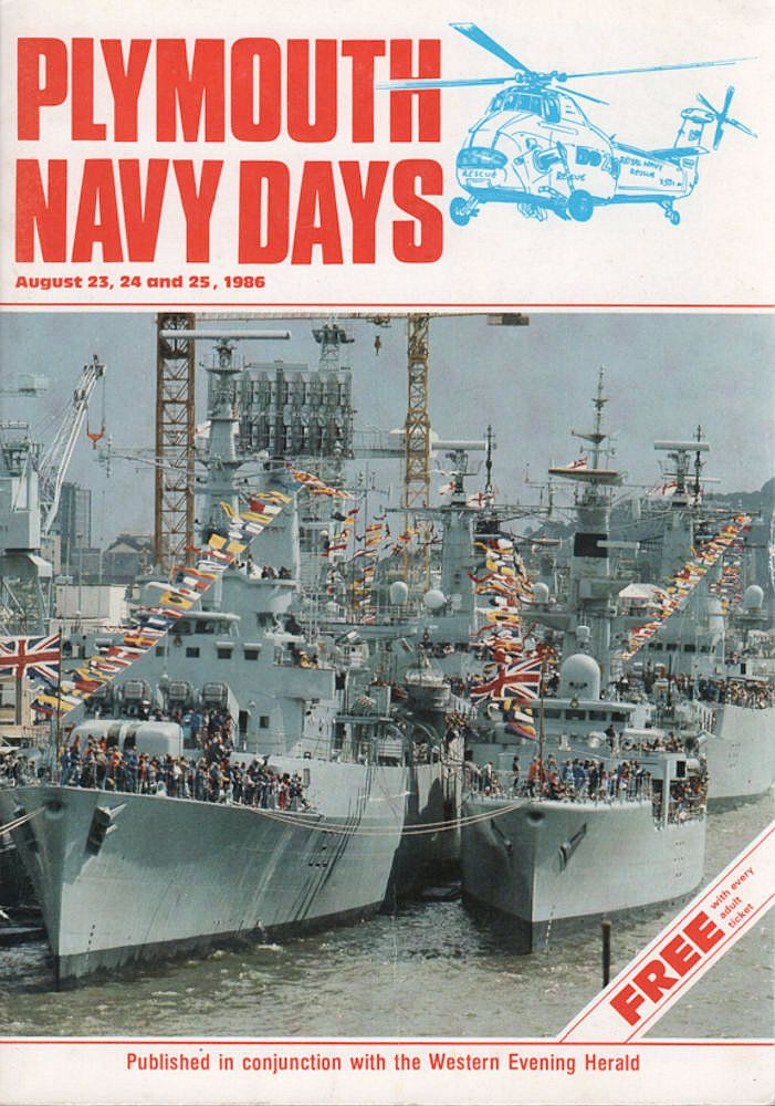 Plymouth Navy Days 1986 Vintage Programme Including Hms Frigates Submarines Plymouth Navy Day Programme 1986 Wi Navy Day Royal Navy Artist Books