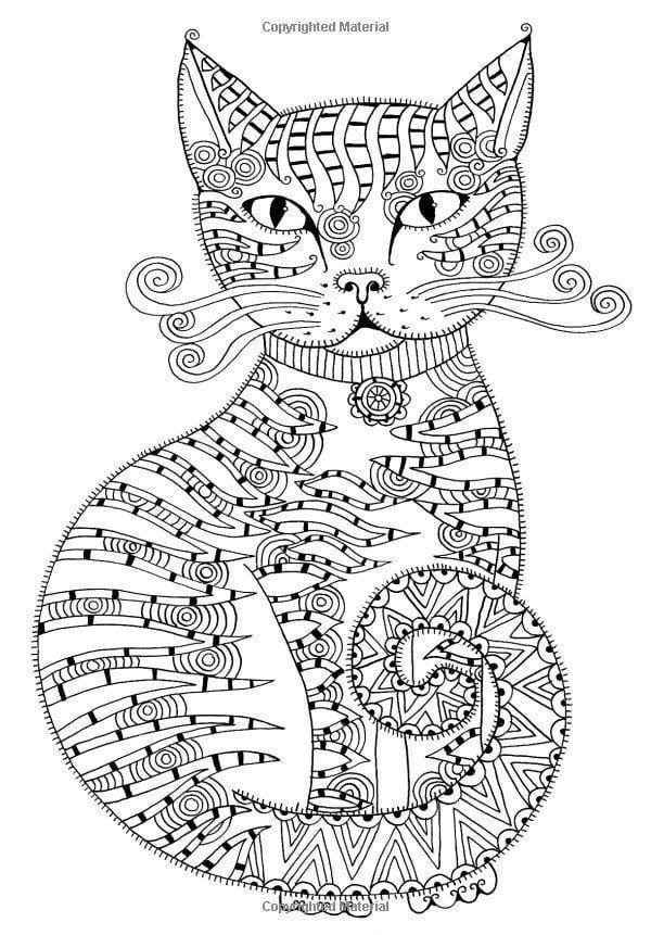 А4 раскраски антистресс коты и кошки   Раскраски, Рисунки ...