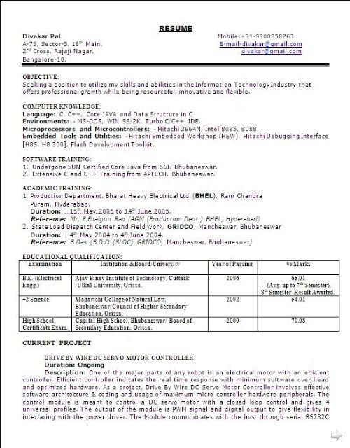 bio data formate free download Sample Template Excellent Curriculum - professional reference
