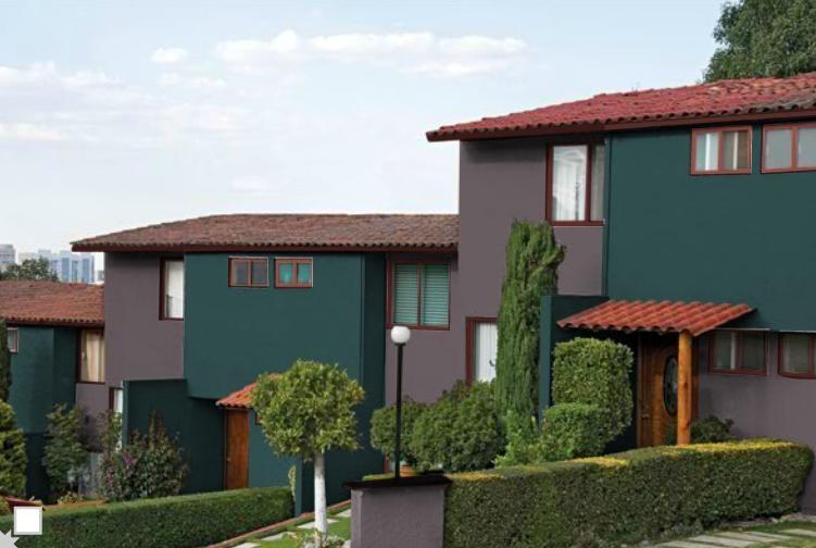 Dos Colores O Uno Comex Pintura Colores Colores Exteriores Y Colores De Fachadas