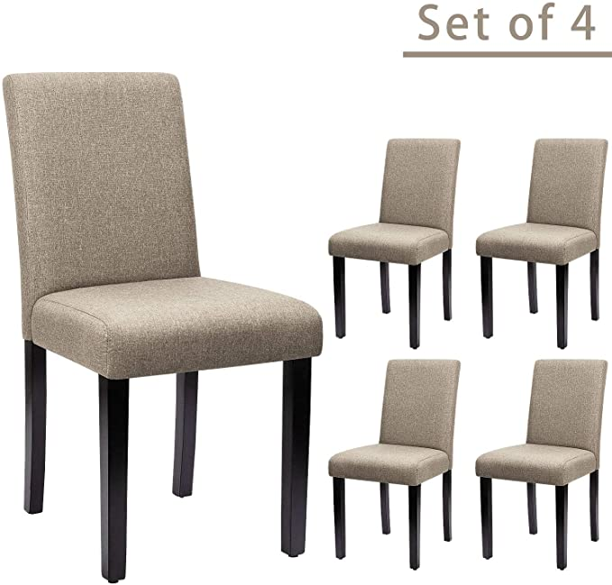 Furniwell Dining Chairs Fabric Upholstered