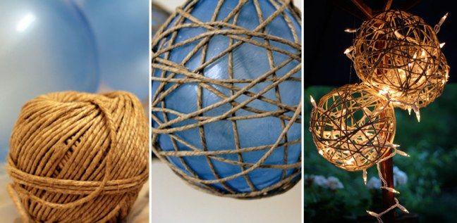Gartendeko selber machen: Ballon-Lichter