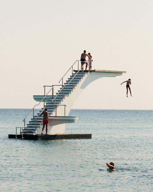 ocean diving board