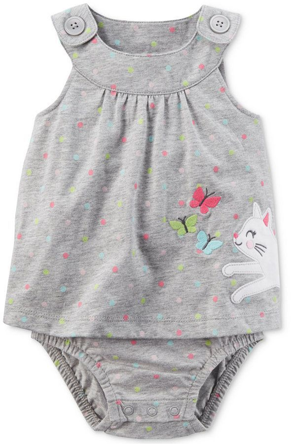 78c0128c2 Carter's Kitty Cotton Skirted Sunsuit, Baby Girls (0-24 months ...