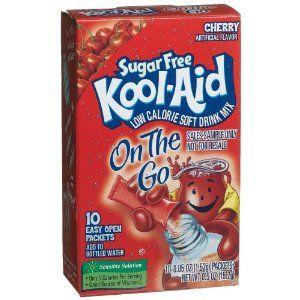 Kool Aid Sugar Free On The Go Cherry 0 5 Ounce 10 Count Packets Pack Of 6 Kool Aid Sugar Free Tropical Punch