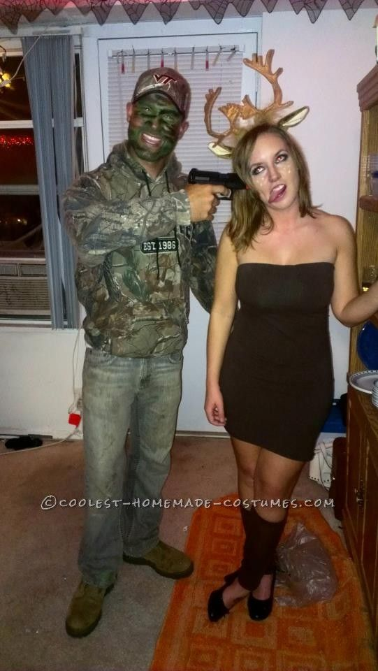 Unique and Easy Hunter and Deer Couple Halloween Costume Pinterest - couples halloween costumes ideas unique