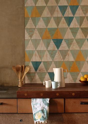 MOONISH | MAGNETIC TILES... scrumptious wood tiles with hand painted patterns - simply gorgeous!