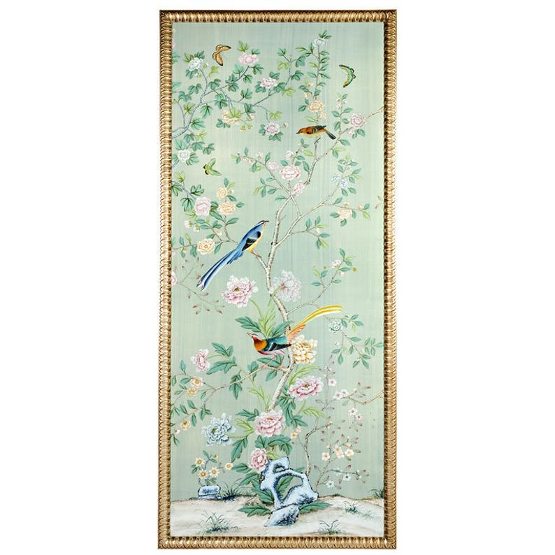 Handpainted wall paper (With images) Chinoiserie