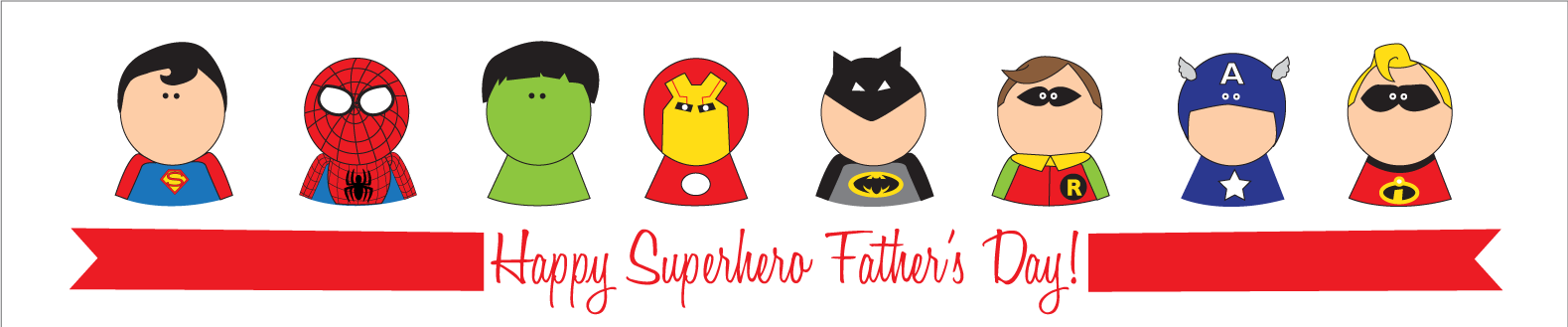 Father's Day Superhero Set {Free Download} - Kiki & Company