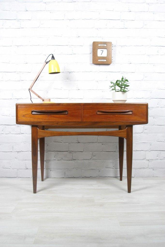 G Plan Retro Vintage Teak Fresco Midcentury Console Table Desk