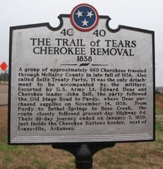 Photo of The Trail of Tears Historical Marker