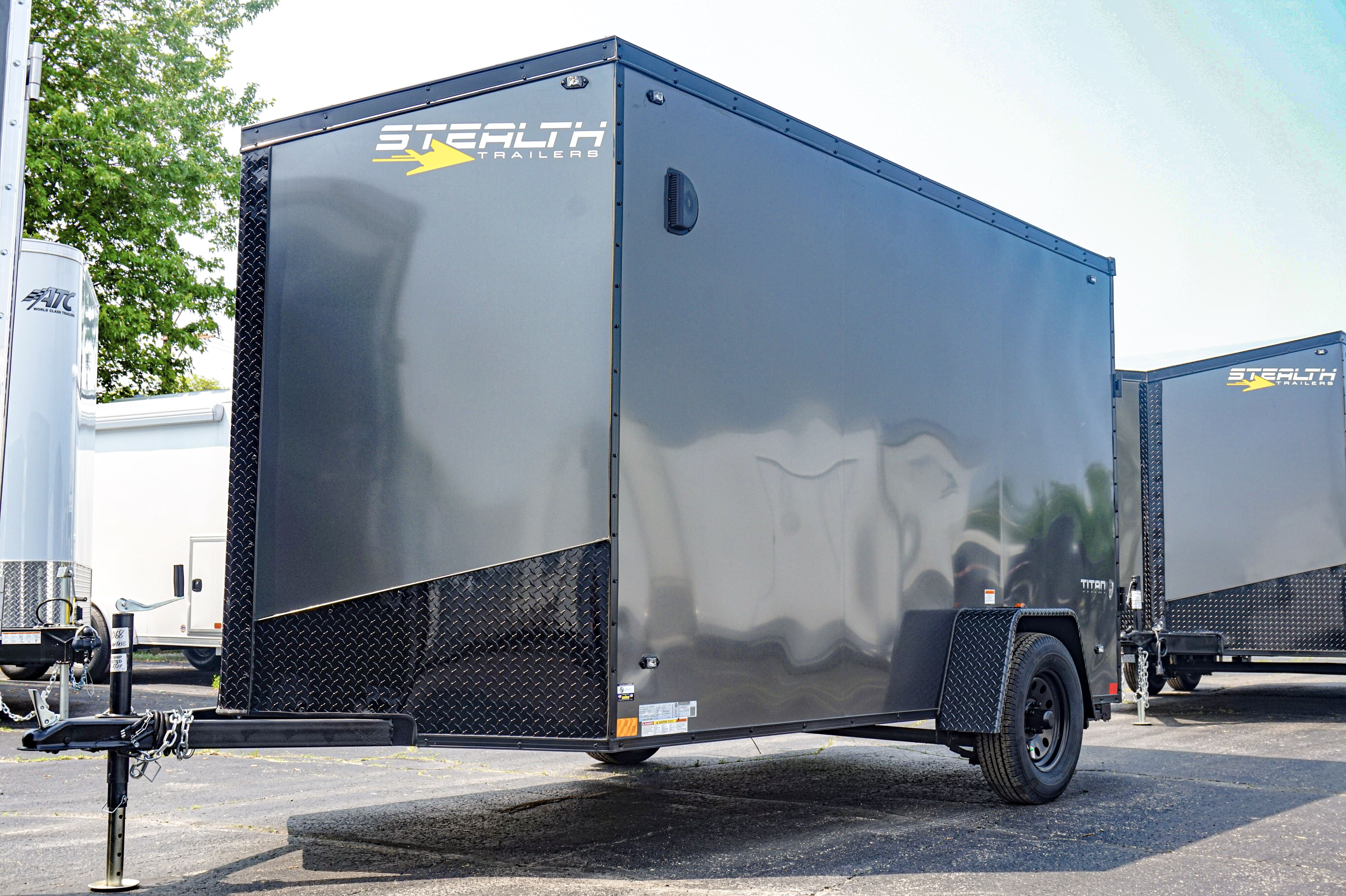 7 X14 Stealth Titan Enclosed Cargo Trailer With Blackout Package Enclosed Cargo Trailers Landscape Trailers Cargo Trailers