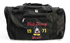 1971 Walt Disney World Large Zipper Collapsible Duffel Travel Bag Mickey Mouse