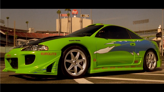 Image result for paul walker's green car in fast and furious