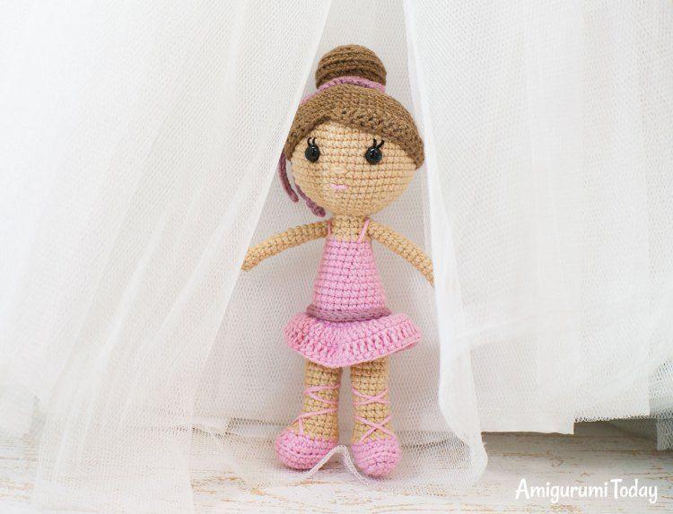 Ballerina doll amigurumi pattern   Muñecas